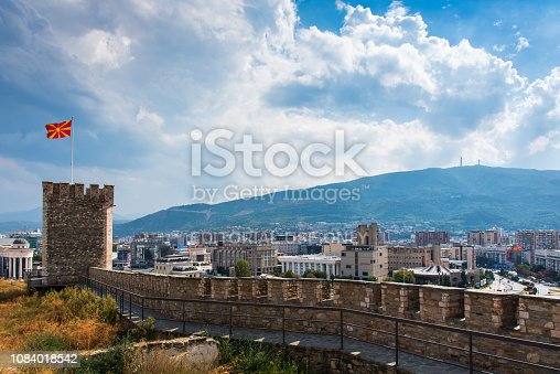 686175420 istock photo Skopje cityscape landmark view from the fortress, capital city of Macedonia 1084018542
