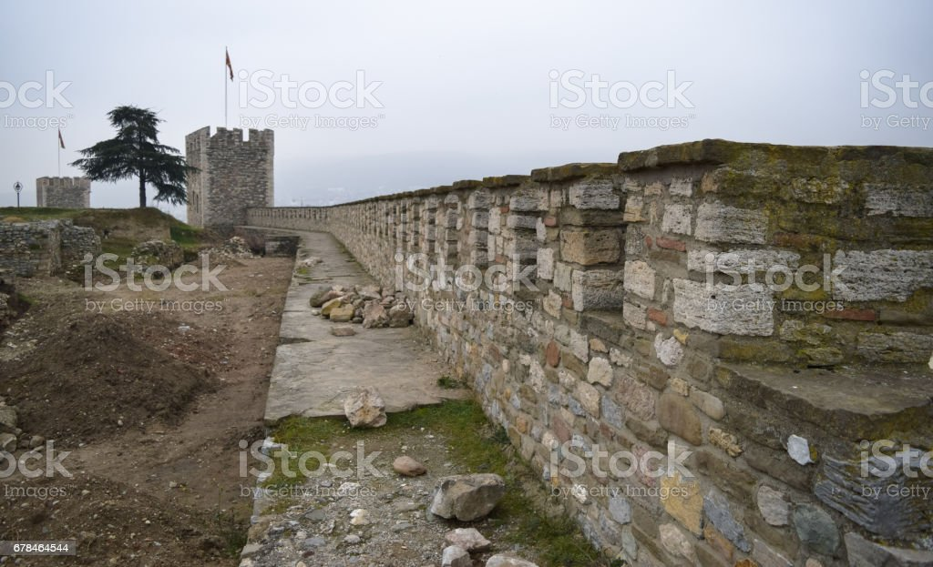 Skopje fortress (Kale fortress) in the Old Town of the capital of Macedonia royalty-free stock photo