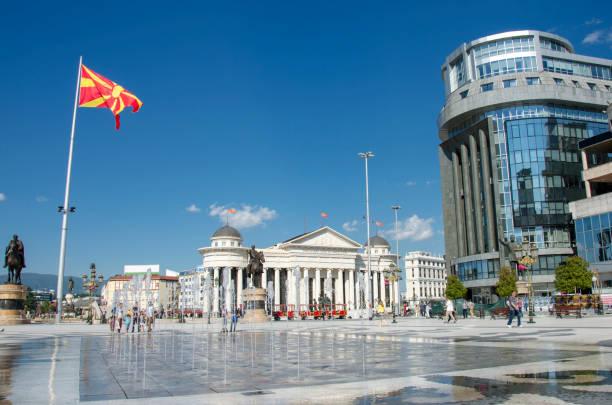 skopje, makedonya - çeşme - üsküp stok fotoğraflar ve resimler
