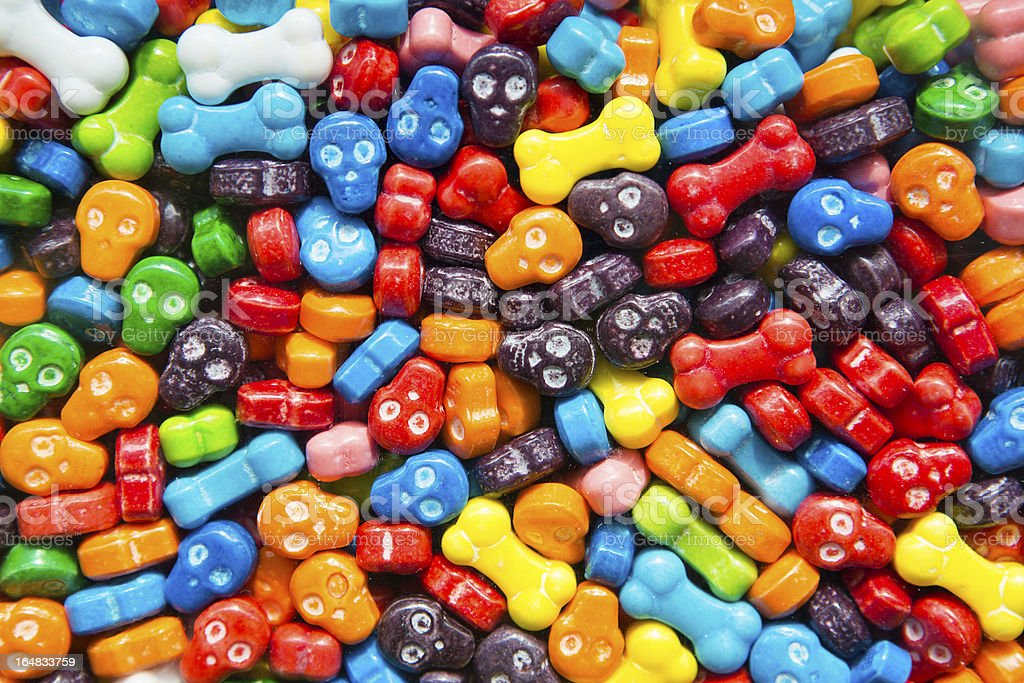 Skull and Bones Candy stock photo
