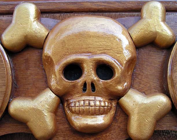 skull and crossbones arrrrrrr stock photo