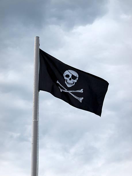 Bandera de piratas bandera - foto de stock