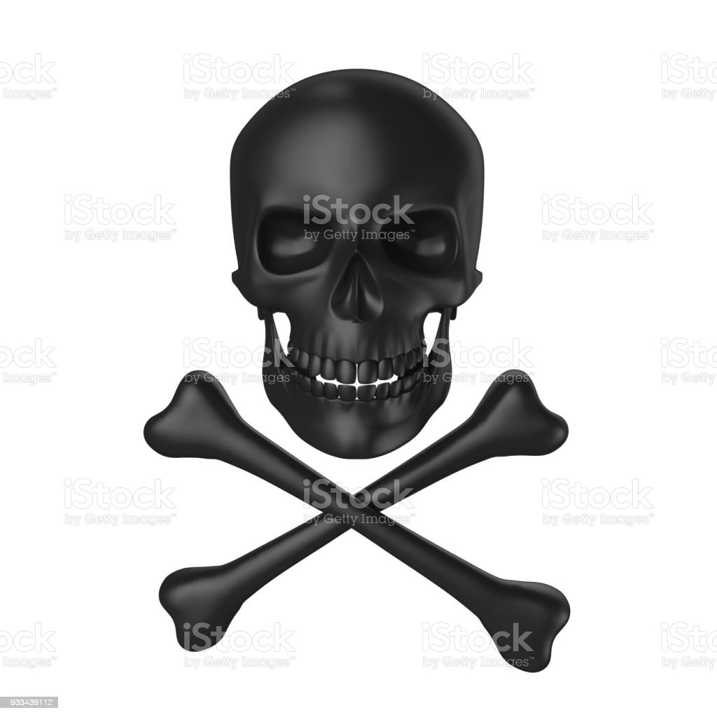 Skull and Crossbones Isolated stock photo