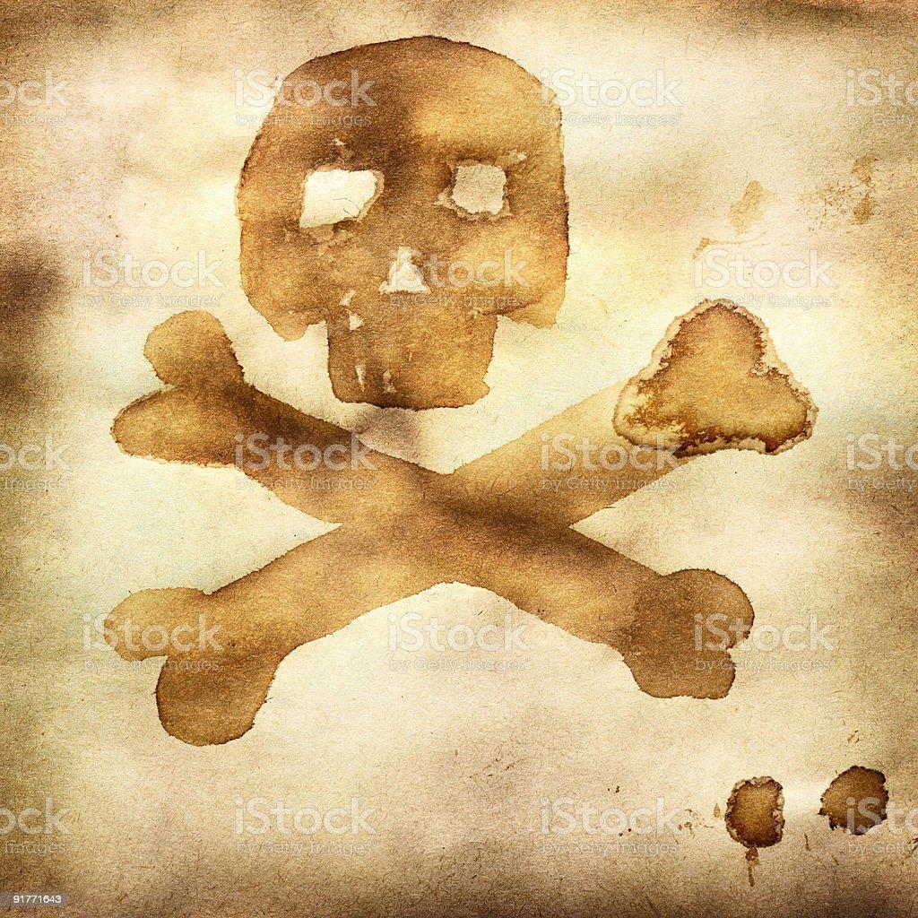 Bandera de piratas - foto de stock