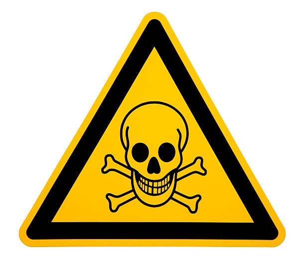 Skull and Crossbones Sign on White stock photo