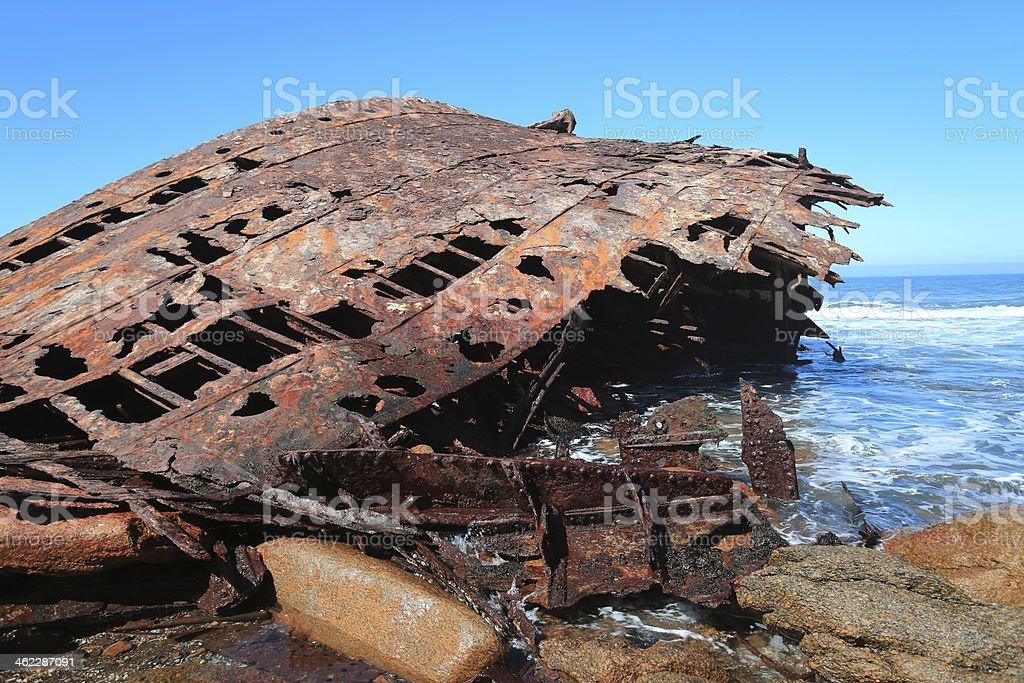 Skull Head Ship Weck Jaw stock photo