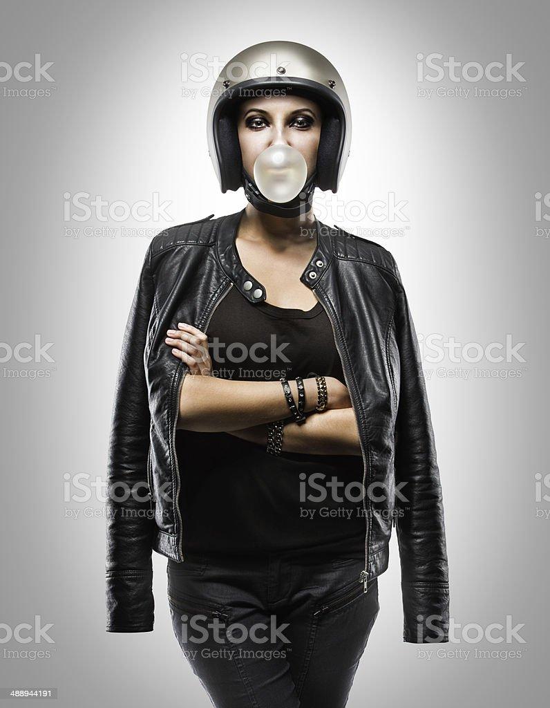 Skull in hemlet stock photo