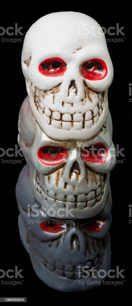 skull isolated on black background scary halloween wallpaper