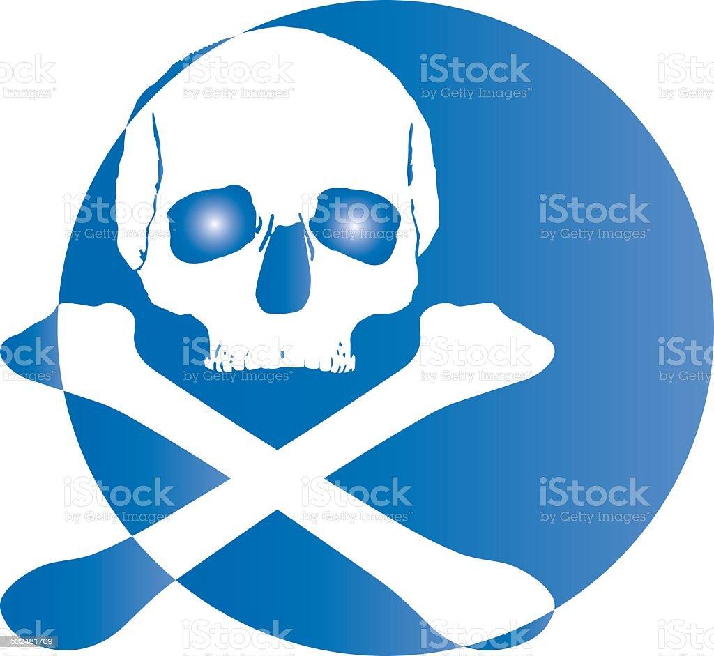 skull logo icon royalty-free stock photo