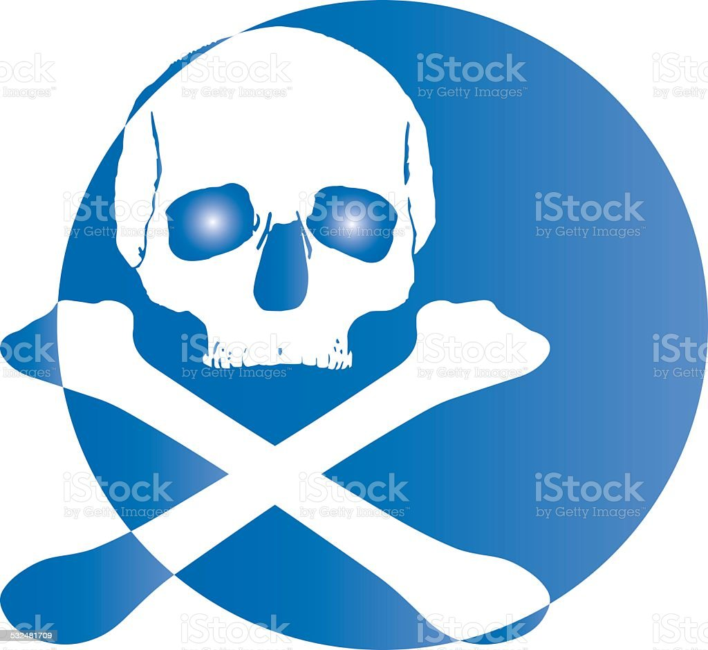 skull logo icon stock photo