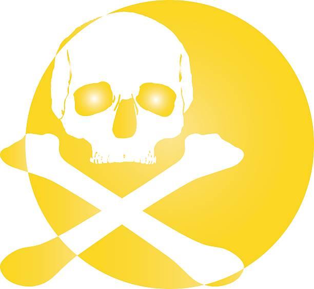 skull logo icon stock photo
