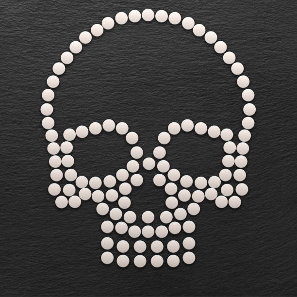 Skull Made out of White Pills - foto stock