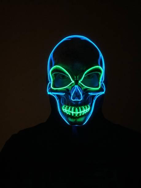 LED Skull Mask stock photo
