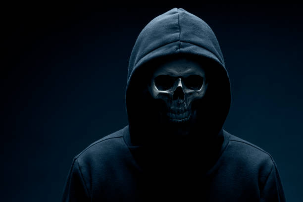 skull - demon stock photos and pictures