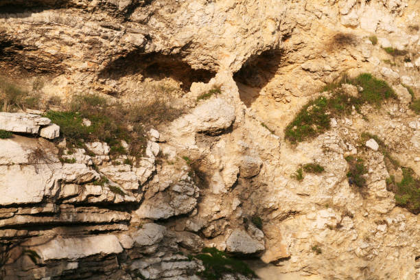 Skull Rock Formation in Jerusalem, Israel stock photo