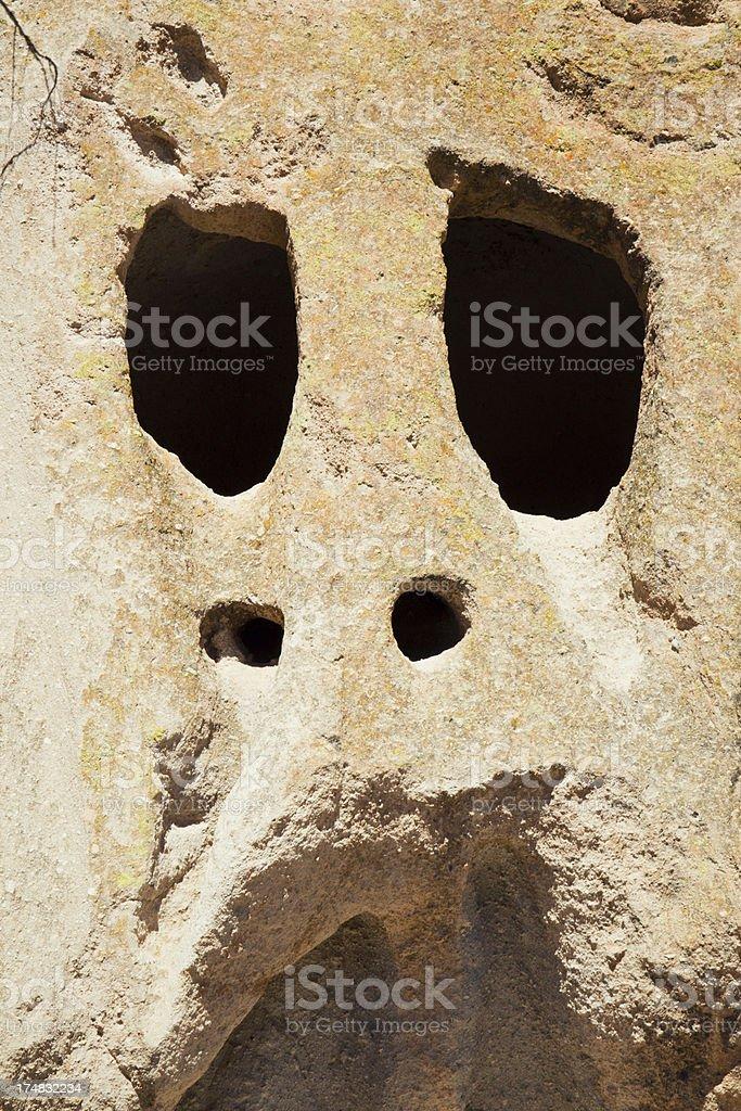 Skull Shaped Windows - Bandelier National Monument stock photo