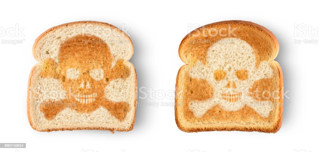 skull  toast stock photo