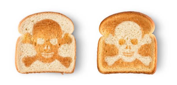 toast de crâne - sans gluten photos et images de collection