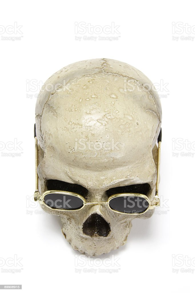 Skull with Sunglasses royalty-free stock photo