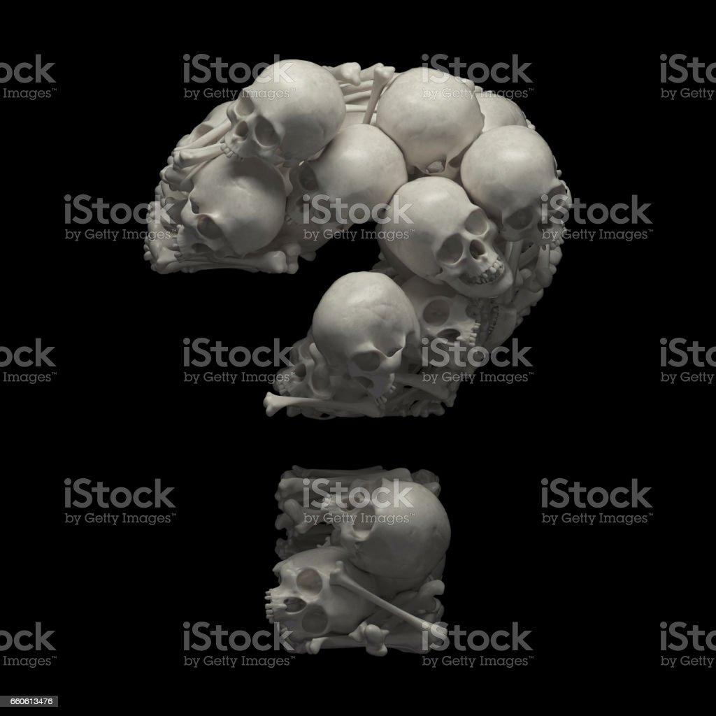 Skulls and bones font royalty-free stock photo