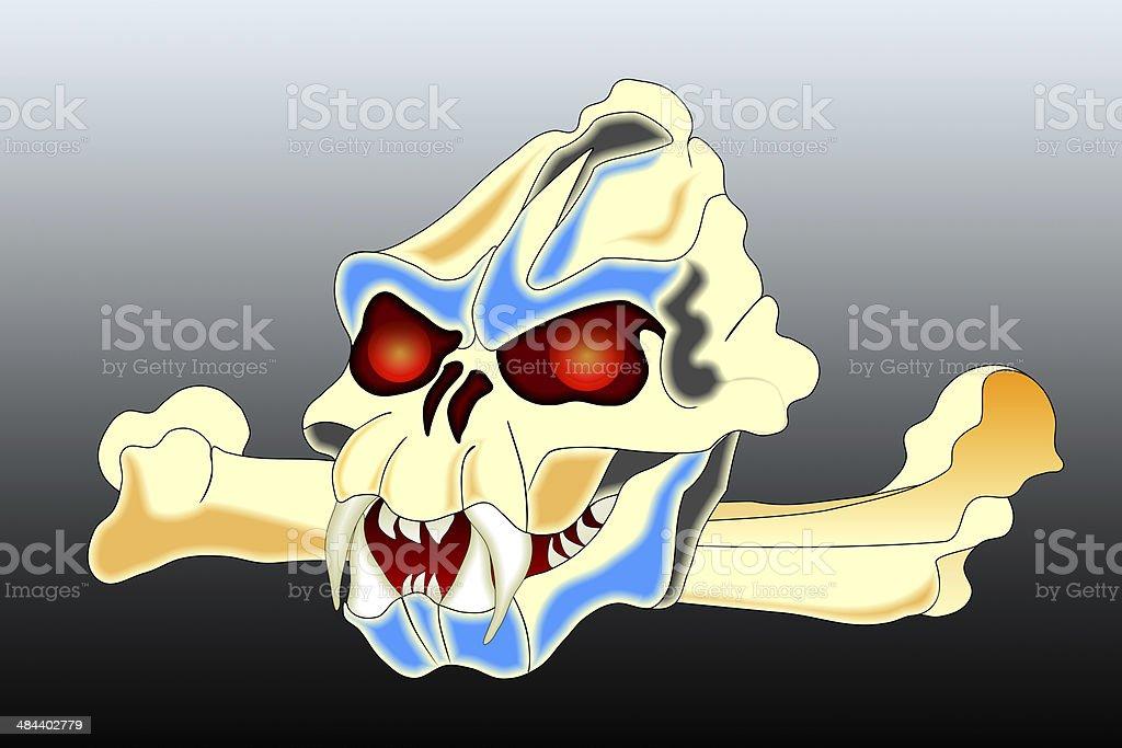 Totenschädel und Knochen – Foto