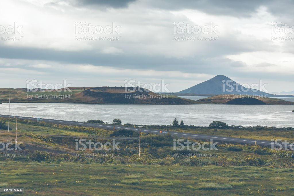 Skutustadagigar pseudocraters, Iceland stock photo