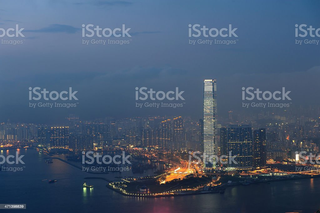Sky 100 Tower of Hong Kong royalty-free stock photo