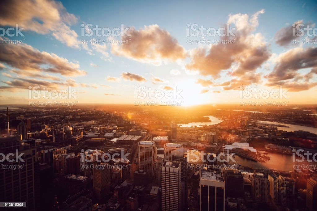 Sky above Sydney stock photo