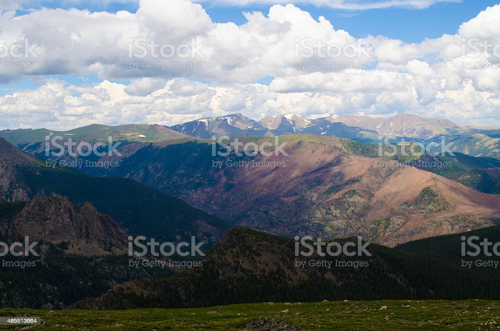 Sky above the Moutains stock photo