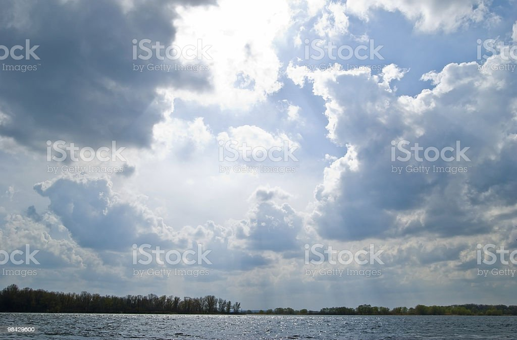하늘 위에서 강 royalty-free 스톡 사진