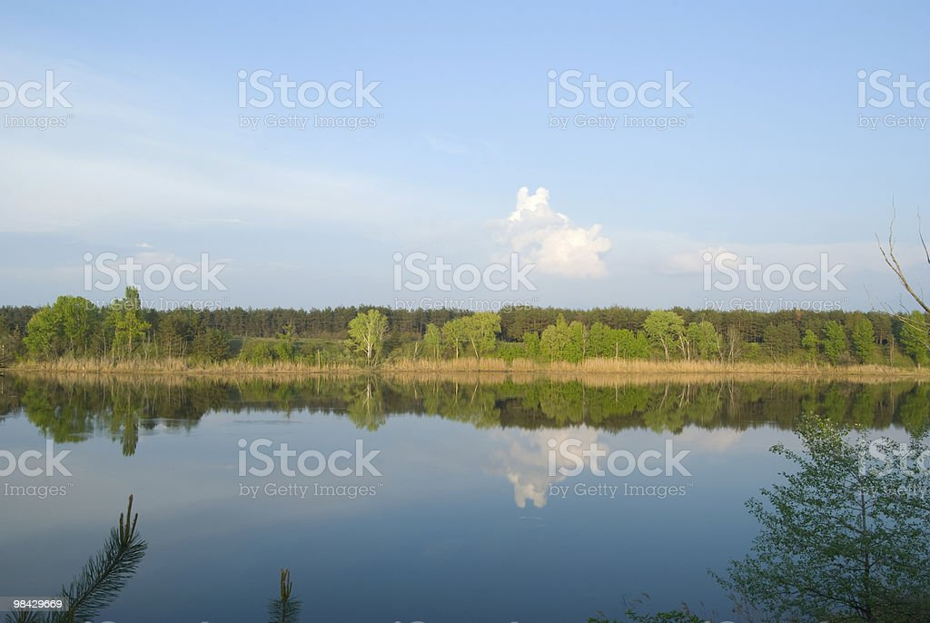 sky above the river royalty-free stock photo