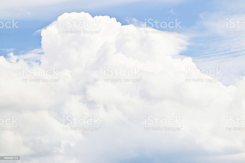 Sky and Cloud, with Copy Writing Space royalty-free stock photo