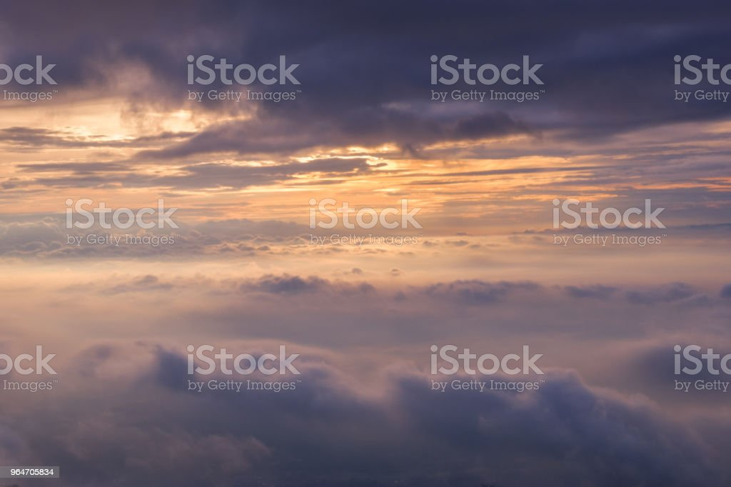 sky and cloud with sunrise royalty-free stock photo