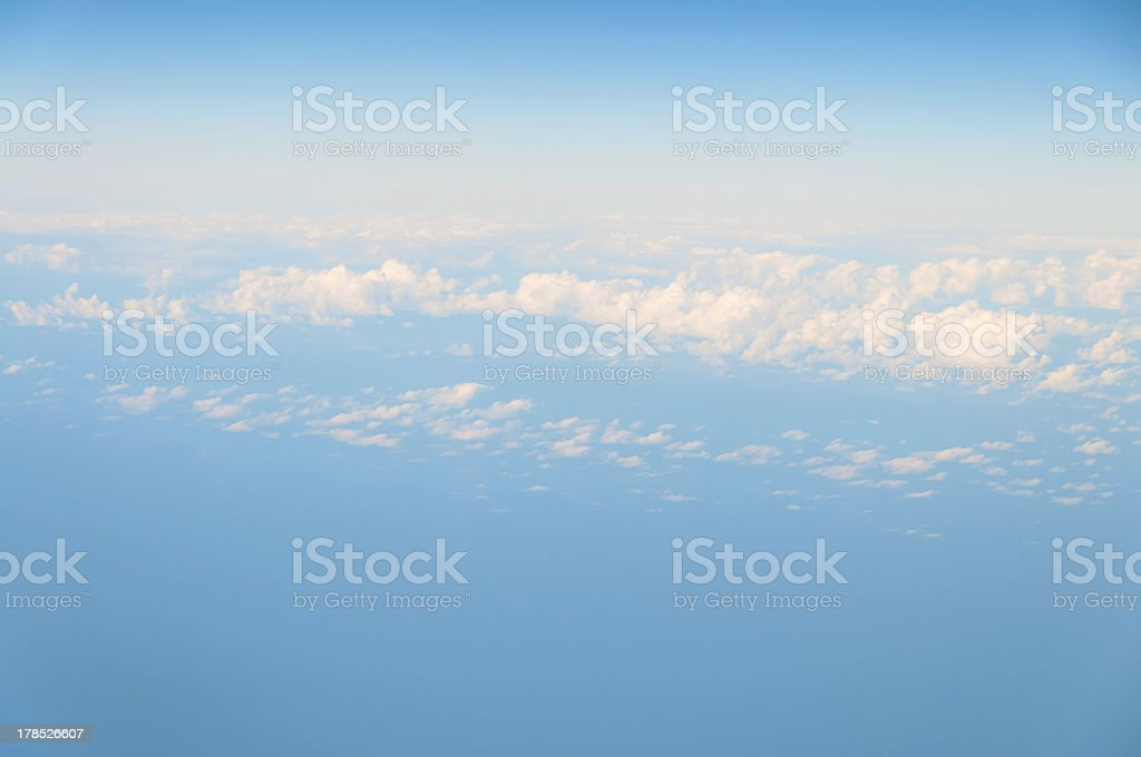 Sky and clouds background royalty-free stock photo