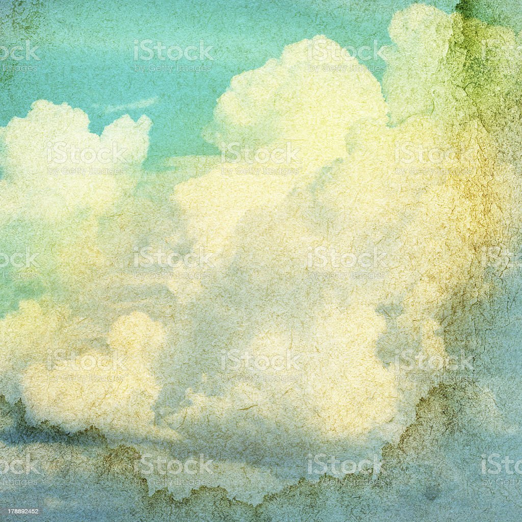 Sky and clouds grunge background royalty-free stock photo