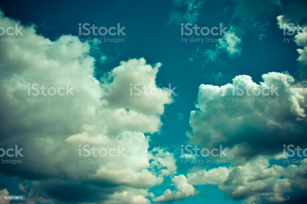 Sky and clouds over Brandenburg, Germany royalty-free stock photo