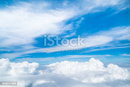 istock Sky and clouds viewed from airplane 626217858