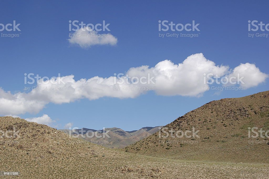 sky and desert royalty-free stock photo