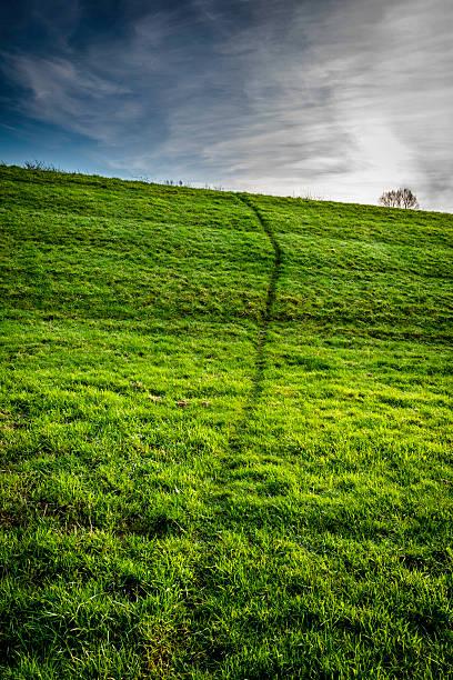 Sky and Dyke stock photo