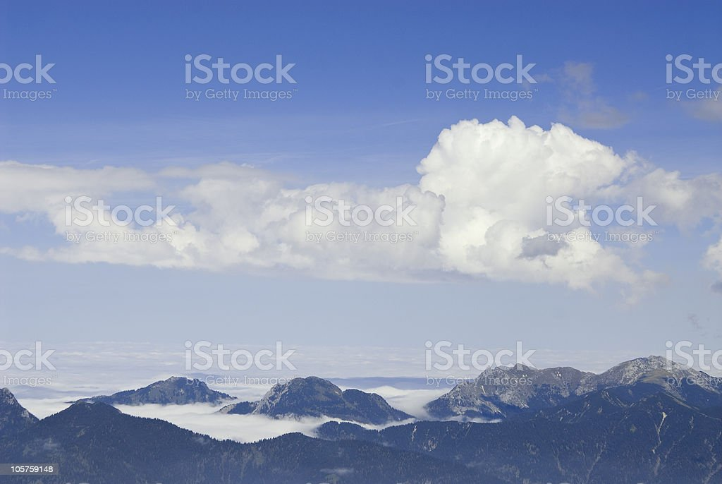 Sky and fog royalty-free stock photo