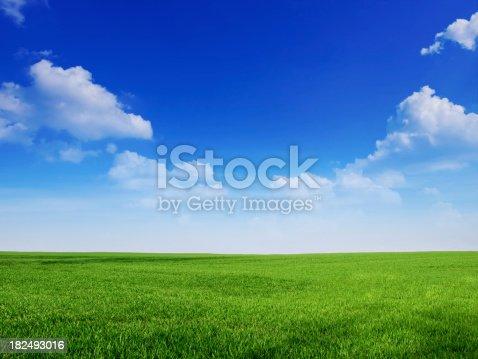 istock sky and grass backround 182493016