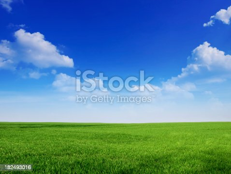 istock sky and grass backround 182493016