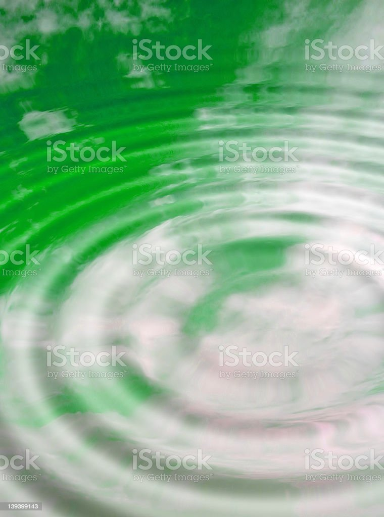 Sky and green water abstract royalty-free stock photo