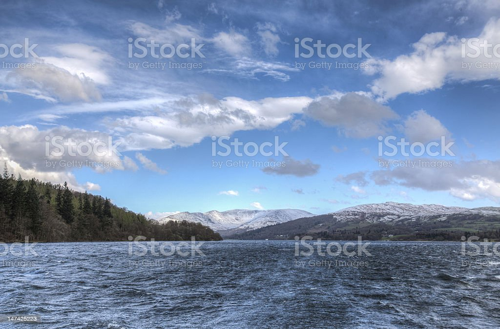 Sky and Lake stock photo
