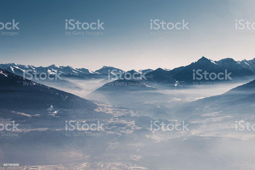 sky and mountain stock photo