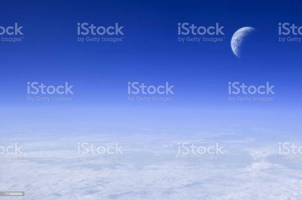 Sky and planet royalty-free stock photo