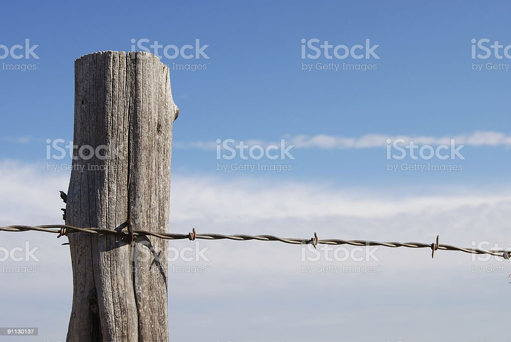 Sky and Post royalty-free stock photo