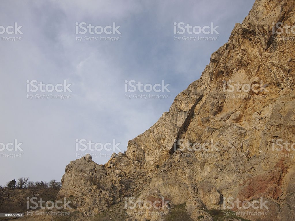 sky and rock royalty-free stock photo