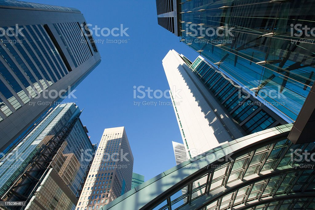 Sky and Skyscrapers royalty-free stock photo
