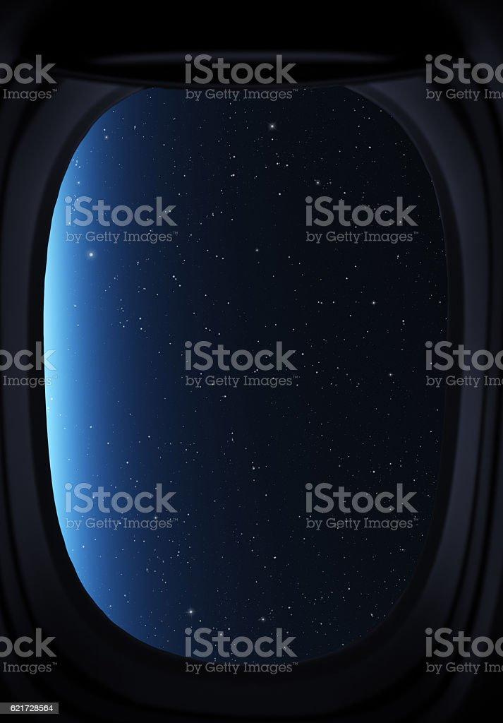 Sky and stars. stock photo